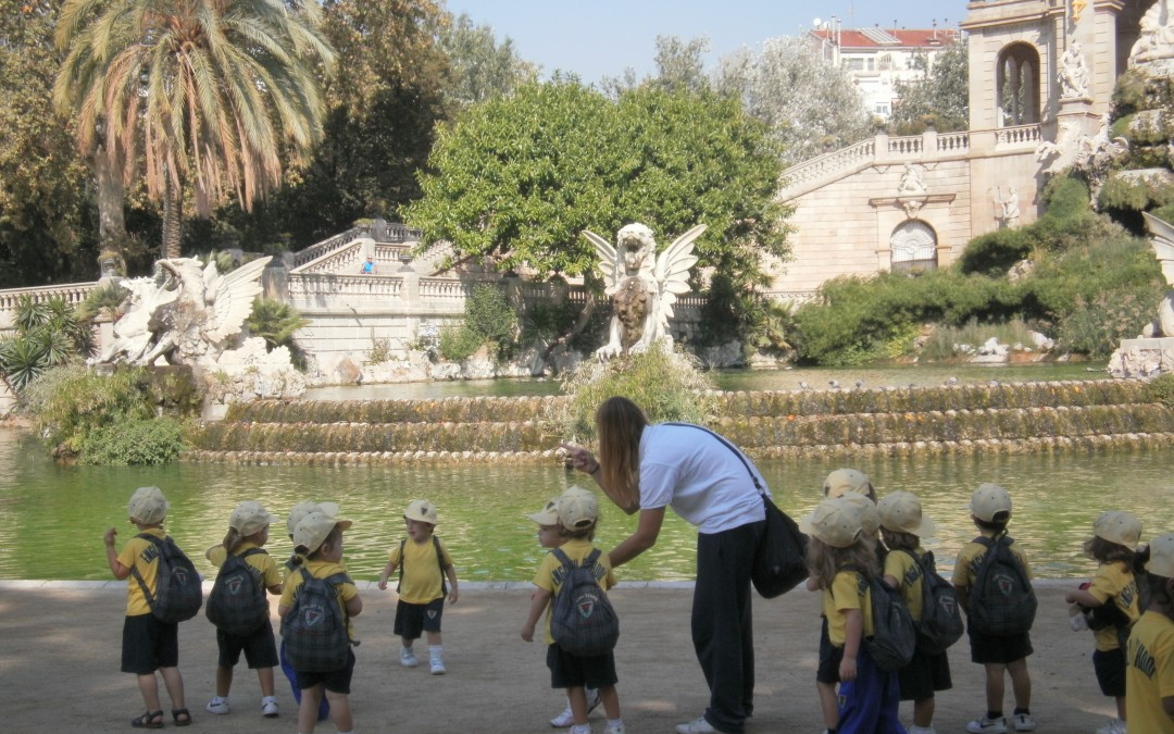 Exploradors al Parc de la Ciutadella.